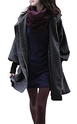 Donna Cappuccio Giacche Mantel Plus Cerniera Giacca Invernali Fit Estilo Con Lunga Prodotto Especial Slim Outerwear Cappotto Fashion Giaccone Eleganti Manica Outdoor Autunno W9YH2EDI