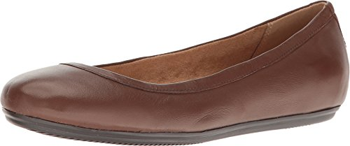 Naturalizer Women's Brittany Ballet Flat,Coffee Bean Leather,US 9.5 M