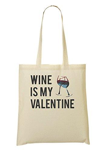 Wine Is My Valentine This Year Bolso De Mano Bolsa De La Compra