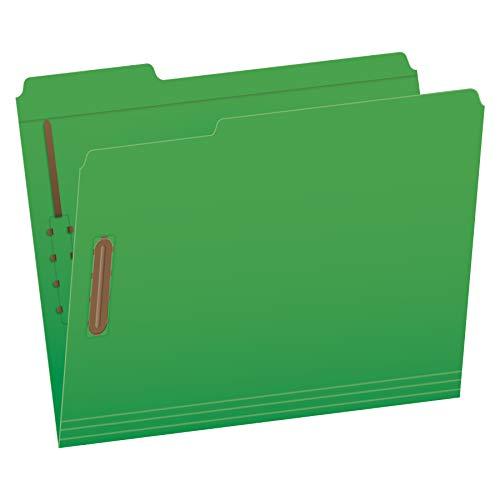 (Pendaflex Fastener Folders, 2 Fasteners, Letter Size, Green, 1/3 Cut Tabs in Left, Right, Center Positions, 50 per Box (22140GW))