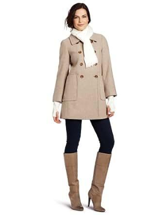 Amazon.com: Calvin Klein Women's Scarf Wool Coat, Oatmeal
