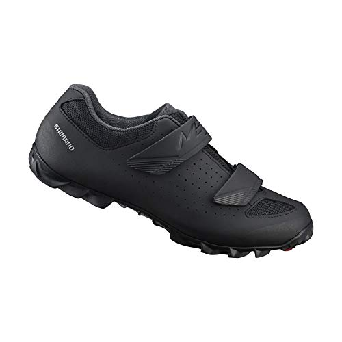SHIMANO SH-ME100 LSG Series Enduro, All Mountain Off-Road Cycling Bicycle Shoes, Black, 43