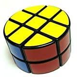 LanLan 2x3x3 Pie-shape Round Column Speed Cube Black & White