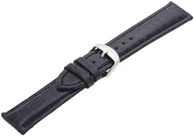 Hadley-Roma Men's MSM907RA-200 20-mm Black Genuine Leather Watch Strap by Hadley-Roma