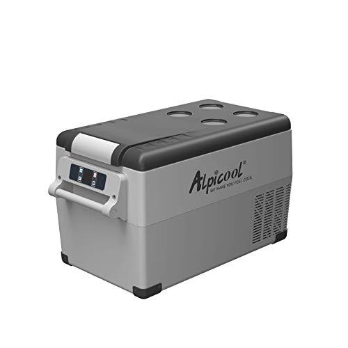 Alpicool CF35 Portable Refrigerator 37 Quart(35 Liter) Vehicle, Car, Truck, RV, Boat, Mini fridge freezer for Driving, Travel, Fishing, Outdoor use -12/24V DC