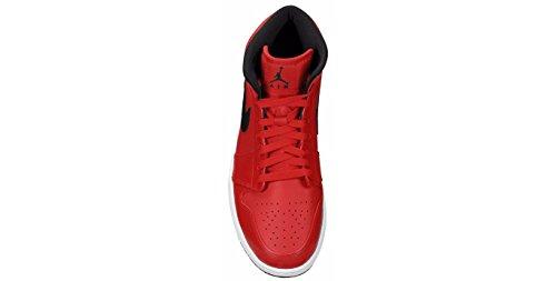 Nike Heren Air Jordan 1 Mid Basketbalschoen Rood / Zwart / Wit