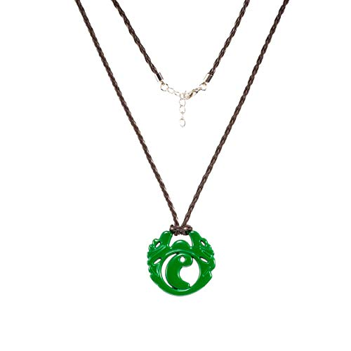 Xcoser Lara Necklace Croft Green Pendant Fancy Accessories Cosplay Props