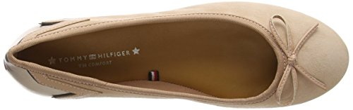 Suede Femme Hilfiger Marron Nude Ballerines Tommy Elevated Silky 297 Ballerina E7XYx8xqnd