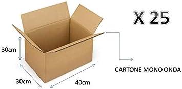 25 cajas de cartón 40 x 30 x 30 cm – embalaje Cartón Mono Onda para envíos/ almacén/árbol de navidad caja neutro: Amazon.es: Bricolaje y herramientas