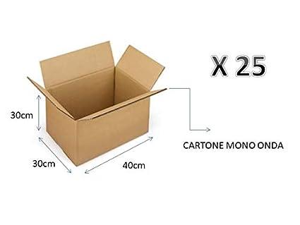 073d658e75 25 SCATOLE DI CARTONE 40X30X30 cm - IMBALLAGGIO CARTONE MONO ONDA PER  SPEDIZIONI/MAGAZZINO / TRASLOCHI SCATOLA NEUTRO: Amazon.it: Fai da te