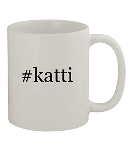 #katti - 11oz Sturdy Hashtag Ceramic Coffee Cup Mug, White