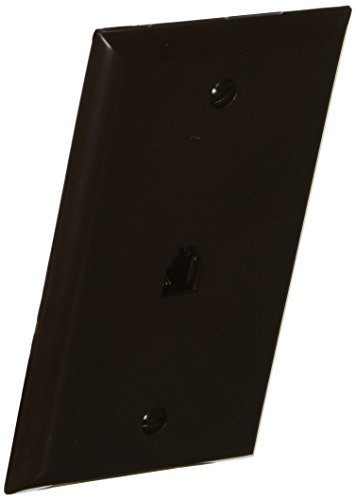 Morris 80012 Single RJ11 4 Conductor Phone Jack Wall Plate, Brown ()