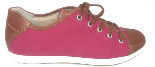Semler C7086-194-561 Damen Sneaker Leder Weite H cognac-magenta