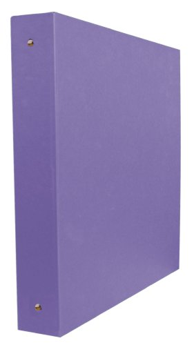 Aurora GB Elements Binder, 3 Inch Round Ring, 8 1/2 x 11 Inch Size, Purple, Linen Embossed, Eco-Friendly, Recyclable, Made in USA (AUA20332)