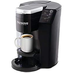3-in-1 Single Serve Coffee Maker Black Traditional Ceramic Dishwasher Safe Parts