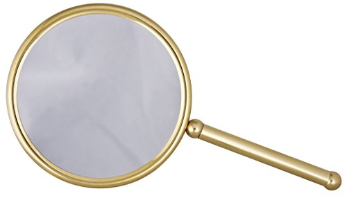 Frasco Mirrors Hand Double Sided Mirror, Brass, 1.1 lb. by Frasco Mirrors