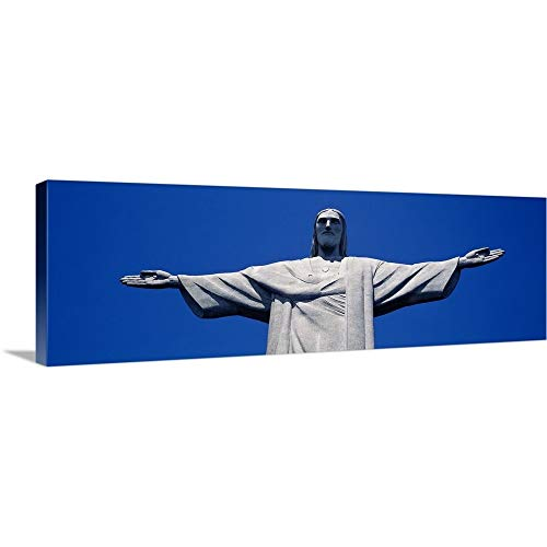 Canvas on Demand Premium Thick-Wrap Canvas Wall Art Print Entitled Low Angle View of The Christ The Redeemer Statue, Corcovado, Rio de Janeiro, Brazil 36