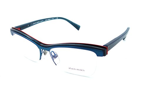 036b97bcc0 Alain Mikli Rx Eyeglasses Frames A02020 002 54-16 Turquoise Petroleum Dot  Red
