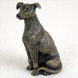 Greyhound Miniature Dog Figurine - Brindle