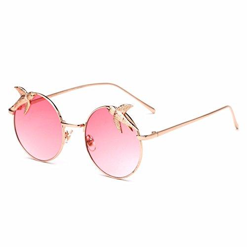 mujer Gafas RDJM lentes d para d con redondos de Gafas sol sol montura de metálica rIdxgXd