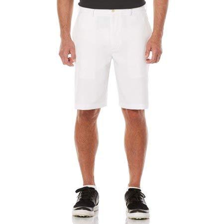 Ben Hogan Men's Performance Flat Front Active Flex Waistband Golf Short (40, Bright White)