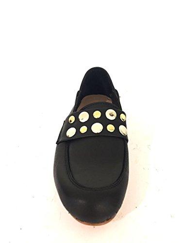 ZETA SHOES - Mocasines de Piel para mujer negro