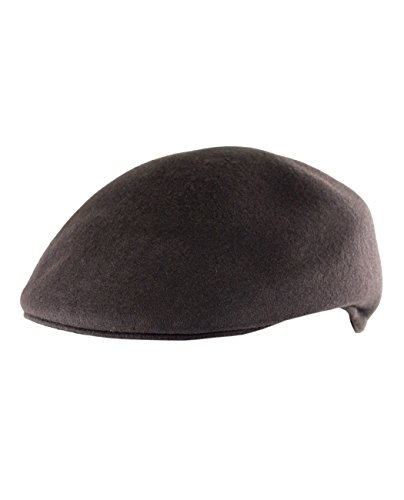 NYFASHION101 Men's Solid Color Classic Style Duck Bill Wool Newsboy Ivy Cap, Coffee, ()
