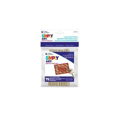 "Bulk Buy: Loew-Cornell Skinny Sticks 5 3/4""X1/4"" 75 Pkg 1021175 (6-Pack)"