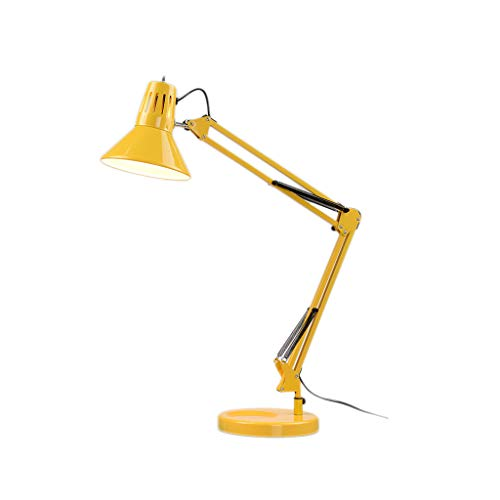m Folding Classic Desk Lamps E27 Table Lamp for Study Office Reading Night Light Bedroom (Color : Yellow, Size : 3-Level Brightness) ()