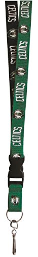 Pro Specialties Group NBA Boston Celtics Two-Tone Lanyard with Detachable Key Ring and Breakaway Safety Closure