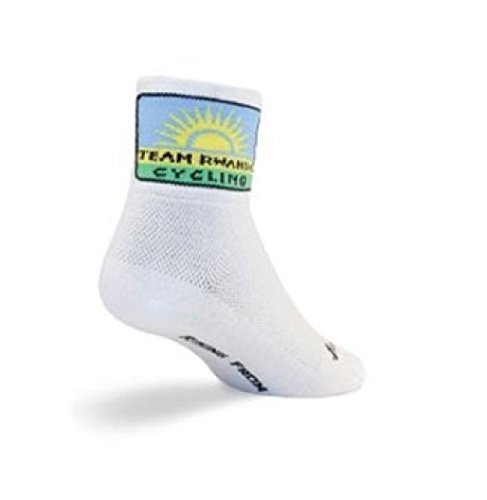 Team Rwanda Cycling/Running Socks (Team Rwanda - S/M) (Ultra Team Sock)