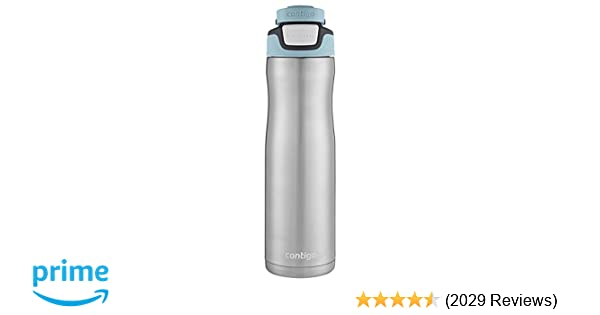 Contigo AUTOSEAL Chill Stainless Steel Water Bottle, 24 oz, SS Scuba