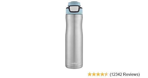 Contigo Stainless Steel Water Bottle | Vacuum-Insulated Water Bottle | AUTOSEAL Chill Water Bottle, 24oz, Stainless/Ice Aqua