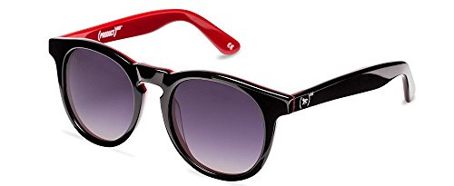 Wolfnoir Unisex Hathi (PRODUCT)RED Round Black and red frame /Black lenses 45mm Polarized Sunglasses