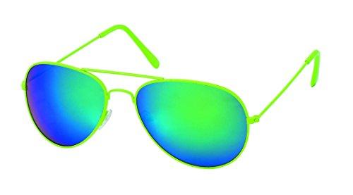 et verres couleurs fluo Vertes lunettes Miroirs Pilote 5 coloris 61ExwRnOW