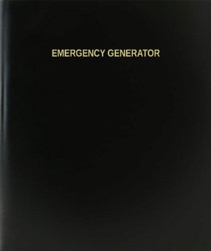 BookFactory Emergency Generator Log Book/Journal/Logbook - 120 Page, 8.5'x11', Black Hardbound (XLog-120-7CS-A-L-Black(Emergency Generator Log Book))