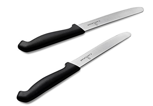 Culina Tomato Knife Set of 2. Extra Sharp German Steel Blade –BLK Color Handle by Culina (Image #3)