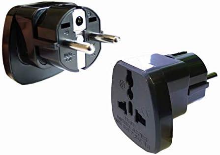 2x Adapter Stecker Für Geräte Aus Italien Afrika Indien Schweiz Zum Anschluss In Deutschland Typ X Beleuchtung