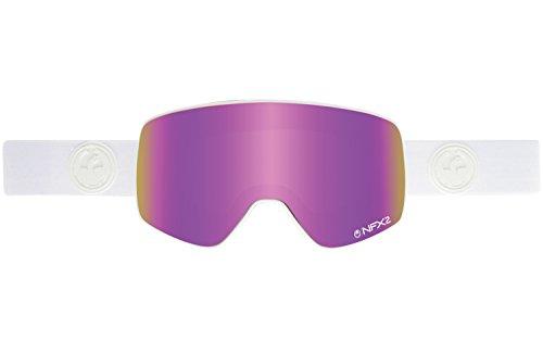 Dragon Alliance NFX2 Ski Goggles, Whiteout/Pink - Dragon White Sunglasses