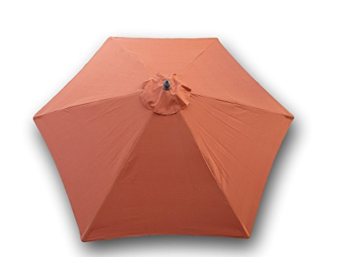 Formosa Covers 9ft Umbrella Replacement Canopy 6 Ribs in Terra Cotta (Canopy Only)