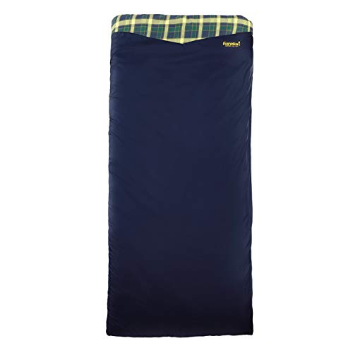 Eureka! Cayuga 45-Degree Flannel-Lined Sleeping Bag, Right Zip, Regular Size, Blue (4 Pounds 2 Ounces)