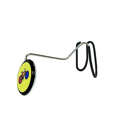 TigerEye Yellow Bike Eye Helmet Mirror