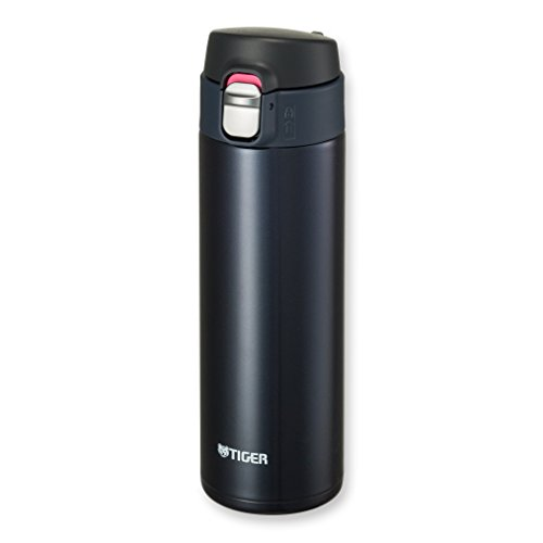 Tiger MMJ-A048 KA Vacuum Insulated Stainless Steel Travel Mug with Flip Open Lid, Double Wall, 16 Oz, Blue Black