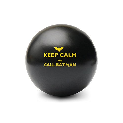 Keep Calm and Call Batman | Novelty Humor Stress Ball | Squeeze Toy Gift | Fidget Accessory for Stress Relief, Special Needs, Concentration, Motivation, ADHD, ADD, Autism and Team Building (Black)