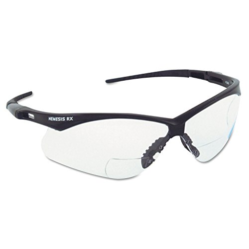 Jackson Safety 28630 V60 Nemesis RX Safety Eyewear, +3.0 Diopter Polycarp Anti-Scratch Lenses, - Rx Online Lenses