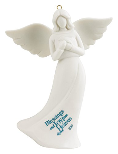 Carlton Ornament 2017 Guardian Angel - Blessings and Joy - Porcelain - (Heavens Blessings Porcelain)