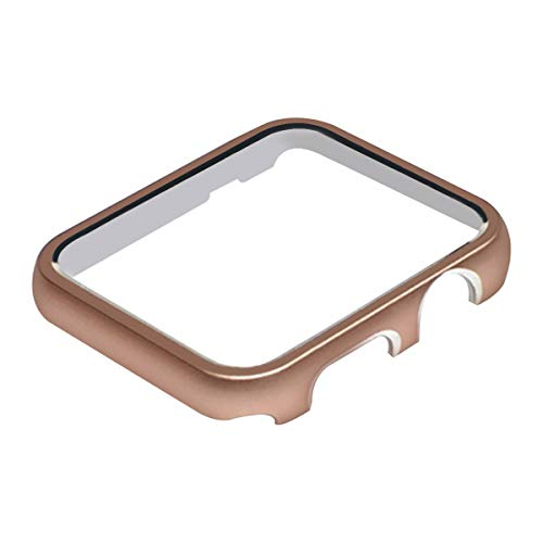 (BONSTRAP Compatible with Apple Watch Case 38mm Rose Gold Watch Case for Apple Watch Protector Series 1 2 3)