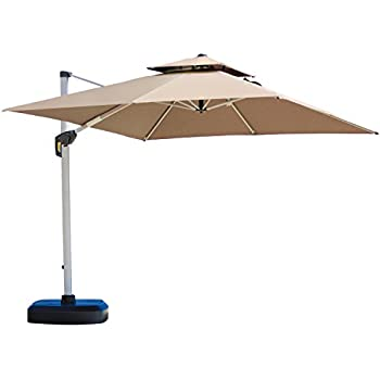 amazon com purple leaf 11 feet double top deluxe patio umbrella