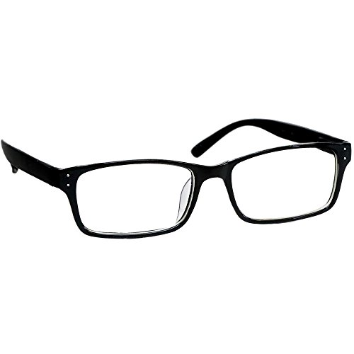 Black Computer Reading Glasses 1.25 _ Protect Your Eyes Against Eye Strain, Fatigue and Dry Eyes from Digital Gear with Anti Blue Light, Anti UV, Anti Glare, and are Anti Reflective