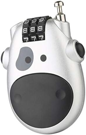 PETSOLA スーツケースロック コードロック コンビネーション 線 長さ 約70mm - 銀